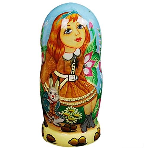 WGH 7 unids muñecas Rusas Matryoshka Tradicional Juguetes de Madera Pintados a Mano Cuentos de Hadas Muñeca Rusa Set para la decoración del hogar