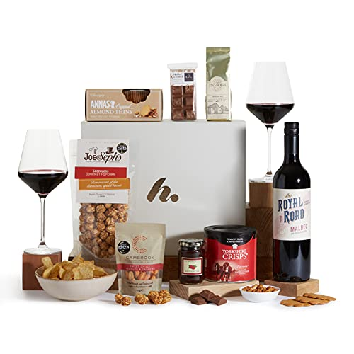 The Classic Food and Wine Hamper - Gourmet Hampers - Malbec Red Wine & Food Gift Hampers - Gift Hampers and Baskets