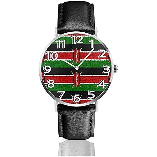 Uhr Armbanduhr Kenya Flag Puzzle Classic Casual Quartz Uhr Uhren für Männer Frauen