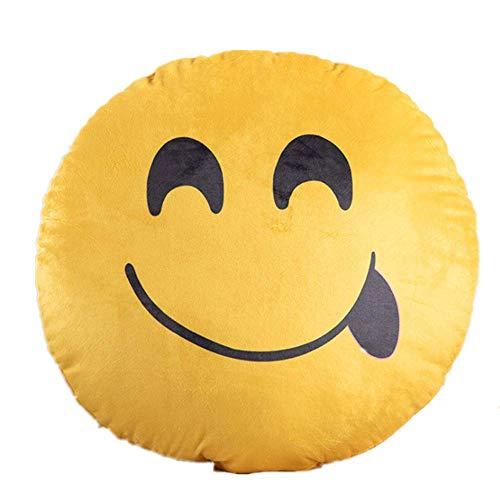 Kissen Emoji Druck Umarmung Kissen Plüsch Spiel Kissen Kinder Spielzeug Kissen 30 * 30cm/ naiv