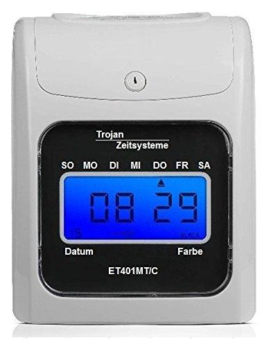 Stempeluhr/Die rechnende Stempeluhr ET401MT/C ist nur bei TROJAN ZEITSYSTEME erhältlich/Dieses Angebot beinhaltet nicht die rechnende Stempeluhr