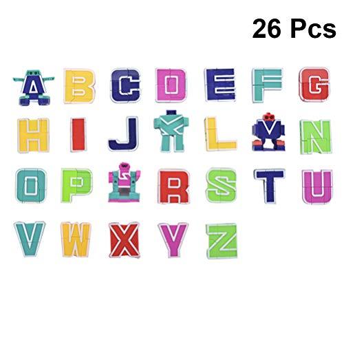 YeahiBaby Lettres anglaises Robots multifonctionnels de Robot de déformation de l'alphabet pour des Cadeaux d'enfants