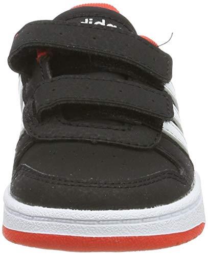 adidas Hoops 2.0 CMF I, Zapatillas Unisex niños, Negro (Core Black/Footwear White/Hi/Res Red 0), 23.5 EU