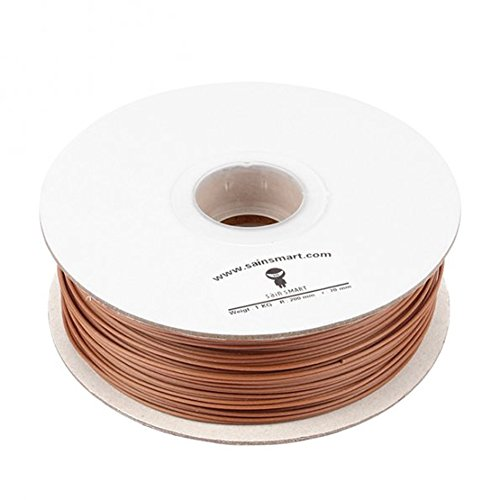 SainSmart Wood Filament, 1.75MM Wood Filament 1KG,3D Printer Wood Filament, Dimensional Accuracy +/- 0.05 MM, Brown