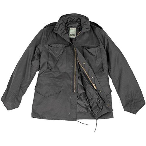 Mil-Tec US Klassische M65 Jacke Schwarz Größe XL