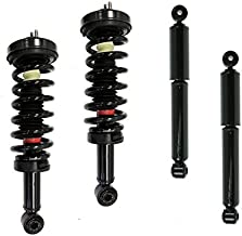 DTA 70090X Full Set 2 Front Complete Strut Assemblies With Springs and Mounts + 2 Rear Shocks 4-pc Set Compatible with 1995-2004 Tacoma 4WD Only or 1998-2004 Tacoma Prerunner