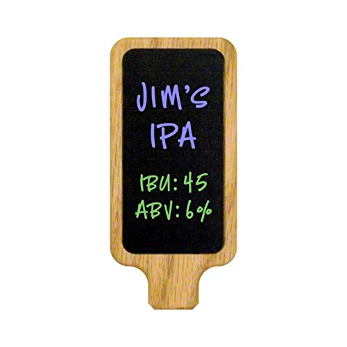 Beer Coffee Tap Handle with Customizable 2x4 Premium Surface chalkboard or White Marker Board. Works on all USA Beer Taps including Kegerator.