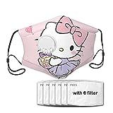 Desing shop Hello Kitty Girly Style - Máscara reutilizable para niños y niñas, sombrero de pasamontañas, lavable, para exterior