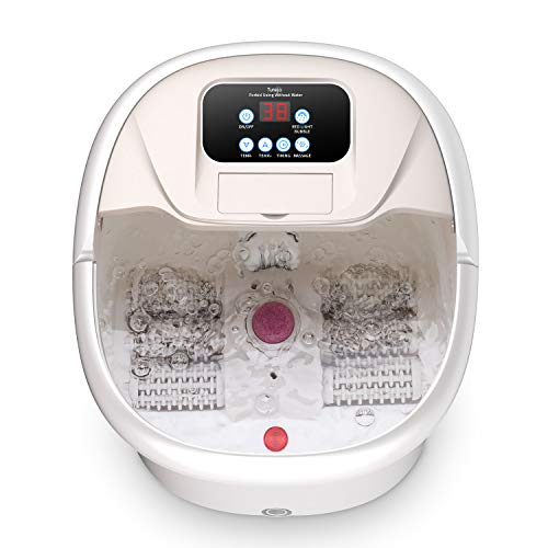 Foot Spa and Massager, Turejo Electric Foot Bath with Bubble, 6 Auto...