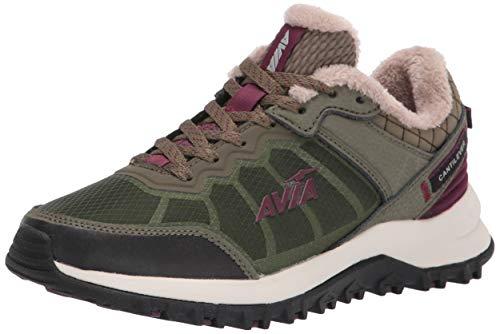 Avia Damen Avi-Ultra Trailrunning-Schuhe, Burnt Olive/Epsom/Potent Purple/Desert Mirage, 37 EU