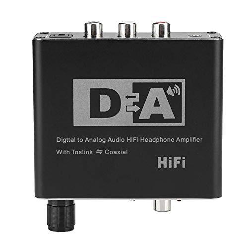 Vbestlife Convertidor Digital a analógico, 32-192 kHz, Adaptador de convertidor de Audio de 3.5 mm con interruptores bidireccionales para conmutación de Audio para hogares y Profesionales privados