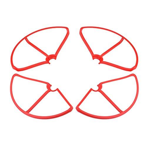 Baoblaze 4 Set di Protezioni per Eliche Protettive per Xiaomi Mi Drone 1080P   4K, Plastica, Rosso