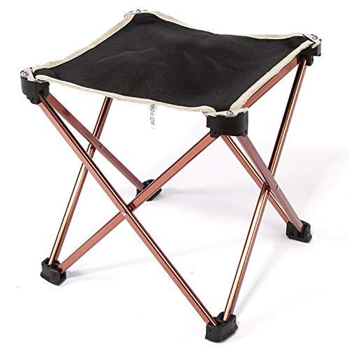 HXBH Silla de Camping portátil Silla de Pesca Plegable Taburete Plegable Cuadrado de aleación de Aluminio Taburete de Playa portátil para Exteriores Adecuado para Cualquier Lugar