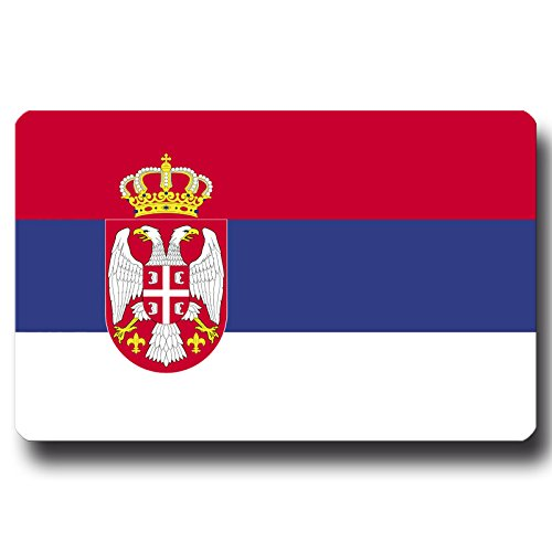 Kühlschrankmagnet Flagge Serbien - 85x55 mm - Metall Magnet mit Motiv Länderflagge