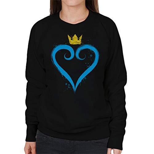 Cloud City 7 Kingdom Hearts Crown Heart Women's Sweatshirt