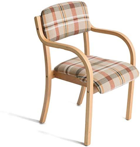 ZfgG houten stoel barkruk barstoel barstoel met leuning en armleuning, voor de lerende kantoor-make-up stoel voor thuis en het vlechtwerk C
