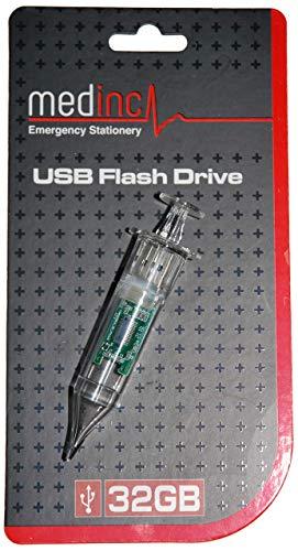 Medinc jeringa en forma de unidad flash USB, 32 GB de almacenamiento para Estudiante Enfermera