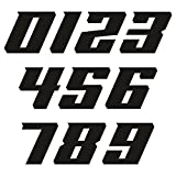Stickers Pegatinas de números para moto, motocross, paquete de 10 unidades, para moto, coche (negro)
