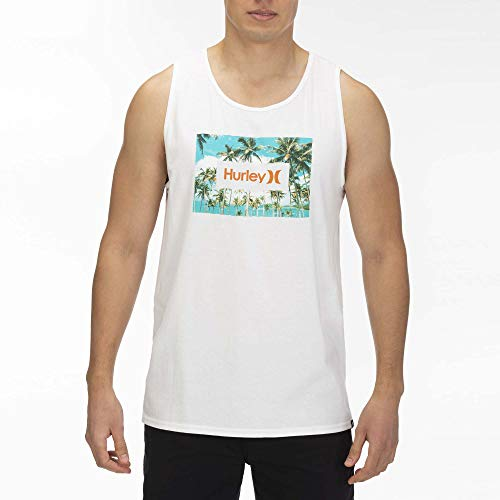 Hurley M Boarders Tank Débardeurs Homme, White, FR : S (Taille Fabricant : S)