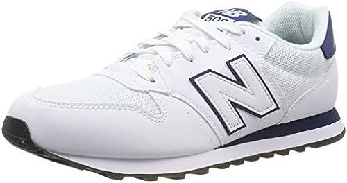 New Balance Herren 500v1 Turnschuhe, Weiß blau