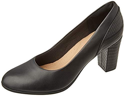 Clarks Damen Alayna Ray Uniform-Schuh, Black Combi, 37.5 EU