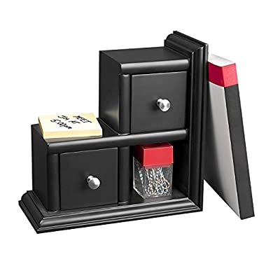 Victor Midnight Collection Reversible Book End, Black (VCT89015)