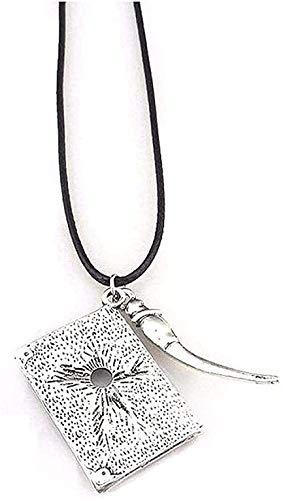 Yiffshunl Halskette Männer Frauen Klassisches Design Retro Einfach zu kombinieren Einfache Persönlichkeit Notebook Anhänger Halskette