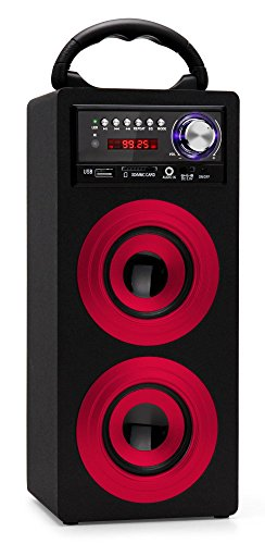 Beatfoxx Beachside Altavoz Bluetooth Portable USB, SD, AUX, Am/FM Rojo