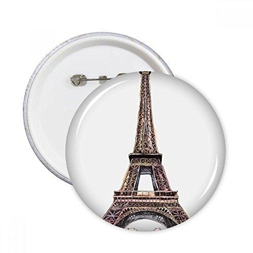 DIYthinker Paris Tour Eiffel en France Bouton rond Badge Pins Vêtements Décoration 5pcs cadeaux Multicolore L