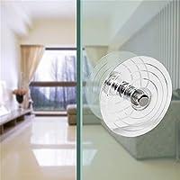 GAXQFEI ガラスドアハンドル、アクリルクリスタル透明ラウンドドアプルバスルームベッドルームストアハードウェアアクセサリー交換ハンドル