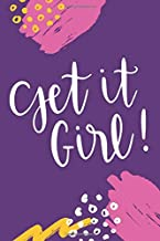 Get It Girl: Motivational Fitness Journal Workout Log Book Weight Loss Diary For Women Daily Activity and Exercise Tracker New Year's Resolution Gym ... Her - Bold Pink and Purple Modern Art Design