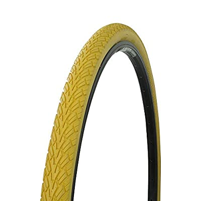 Bicycle Street Tire 700x38c G-5001, Road Bike, Fixie, Hybrid, (Yellow)