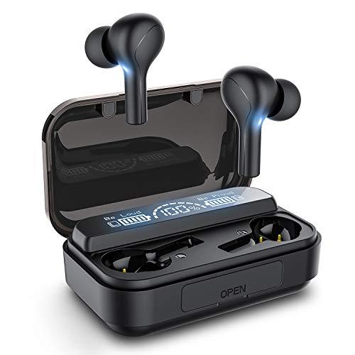 WENSAN Kopfhörer Bluetooth 5.0 mit HD HiFi Stereo CVC8.0 Bluetooth-Kopfhörer mit Rauschunterdrückung und Mikrofon 105H Playtime LED-Display 3000mAh