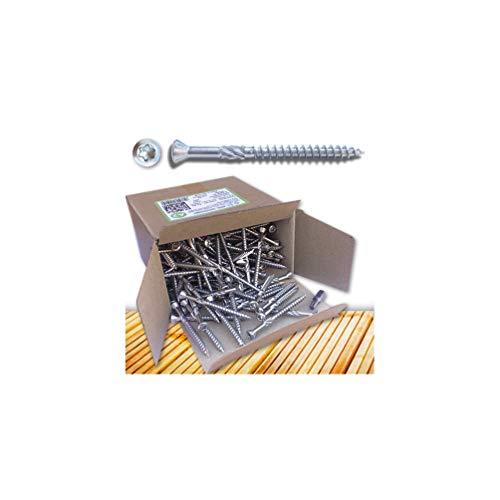 Fixtout - 200 vis terrasse INOX A2 T25 à tête réduite crantée - Ø 5 x 70 mm avec 1 embout