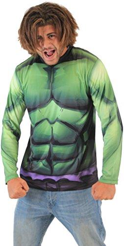 Marvel Incredible Hulk Sublimated Long Sleeve Costume T-Shirt (Adult X-Large)
