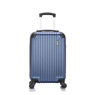 Travelcross Philadelphia Carry On Lightweight Hardshell Spinner Luggage - Dark Blue