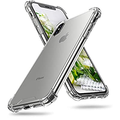 ORIbox iPhone X Case & iPhone Xs Case Clear, with 4 Corners Shockproof Protection, Soft Scratch-Resistant TPU Cover Case for iPhone X Case & iPhone Xs Case for Women & Men, Clear