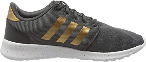 adidas Womens QT Racer Sneaker, Grey/Tactile Gold Metallic/Footwear White, 42 EU