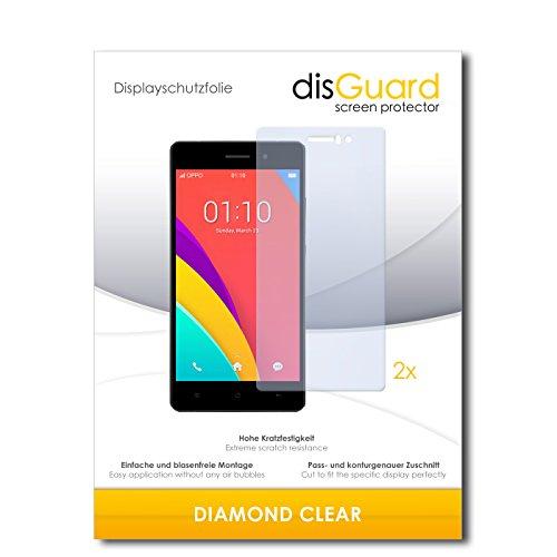 disGuard 2 x Bildschirmschutzfolie Oppo R5s Schutzfolie Folie DiamondClear unsichtbar