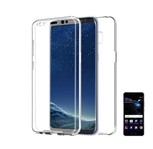 PLANETMOVIL Huawei Mate 20 Lite (6,3 Pulgadas) Funda 360 DE Silicona Delantera + Trasera RIGIDA Doble 100% Transparente Carcasa Integral de Cobertura Completa