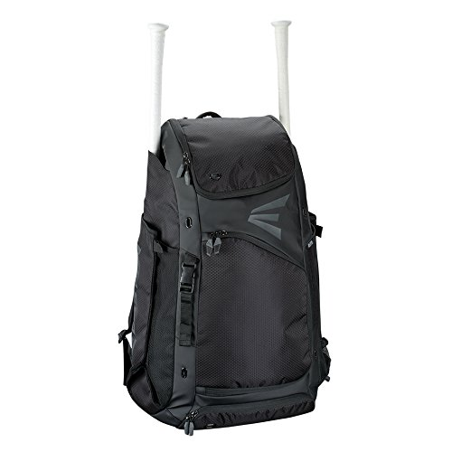 EASTON E610CBP Catchers Bat & Equipment Backpack Bag | Baseball Softball | BLACK | 2020 | Vented All Gear Compartment | 2 Bat Sleeves | Internal Shelf | Vented Shoe Pocket | Mesh Leg Guard Sleeves