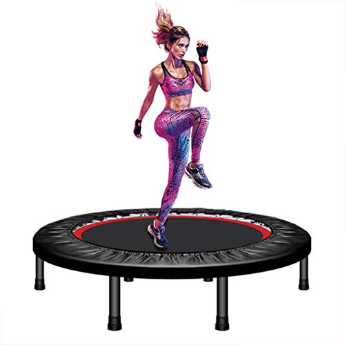 Draagbaar en Opvouwbaar Fitness Workout Mini Trampoline Trampoline 40 Inch Max Load 300 pond met verstelbare Leuning for Indoor Garden Workout Cardio Exercise