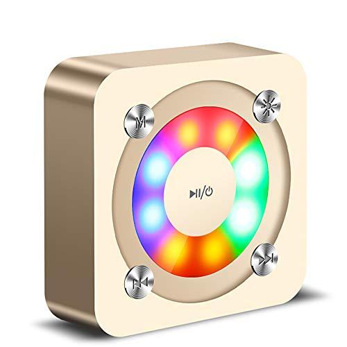 Byx- draadloze Bluetooth-luidspreker - mobiele subwoofer kleurrijk licht mini Acoustic Portable Card Computer Verlichte draagbare muziekspeler Car Channel (Flash Light Edition) @