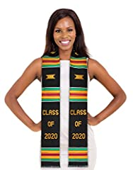 HAND-WOVEN AFRICAN ART– Graduation Stole is hand-woven in Ghana, West Africa by skilled artisans with strict attention to detail – even the embroidery is carefully hand stitched; the perfect graduation gift and keepsake RAYON/COTTON BLEND – Graduatio...