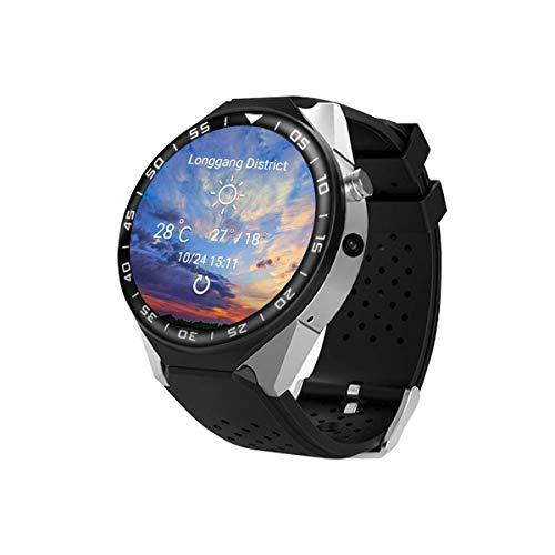 Bluetooth Reloj inteligente con 2 GB RAM ROM 16 GB Soporte de tarjeta SIM 3G WIFI GPS Smartwatch Pantalla IPS de 1.39 pulgadas Reloj del teléfono MTK6580 Cuatro nucleos para Android 5.1 IOS,B