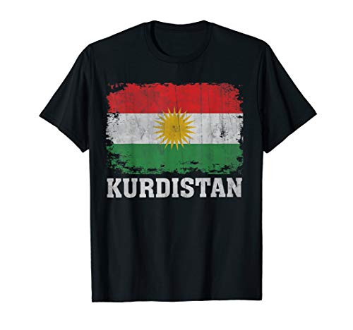 Kurdistan Kurdisch Flagge Vintage Used Aged Look T-Shirt