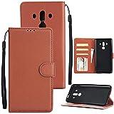 Étui à rabat pour téléphone Boîtier de portefeuille pour Huawei Mate 10 Pro, Portefeuille de...