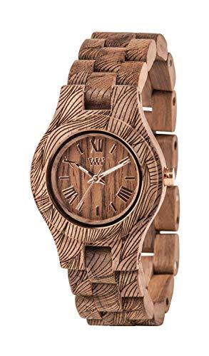 Wewood Reloj de Pulsera Mujer Criss Olas Nuez Rough con Madera Pulsera Nr.WW33006