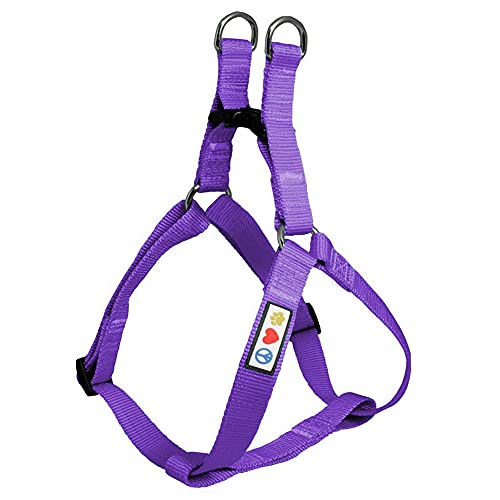 Pawtitas Solid Color Step in Dog Harness or Vest Harness Dog Training Walking of Your Puppy Harness Medium Dog Harness Purple Dog Harness