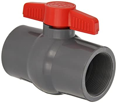 "Hayward PVC Ball Valve, Gray, One Piece, EPDM Seal, 2"" Threaded by Hayward"
